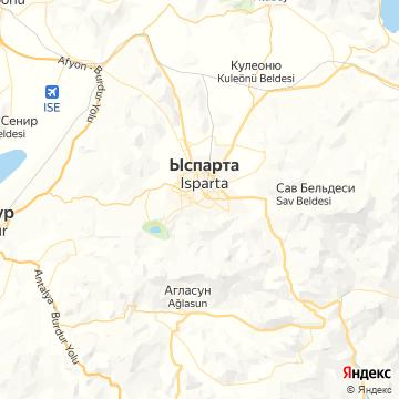Карта Испарты