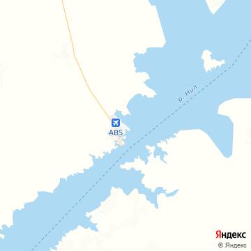 Карта Абу-Симбела