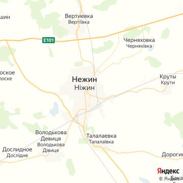 Карта Нежина
