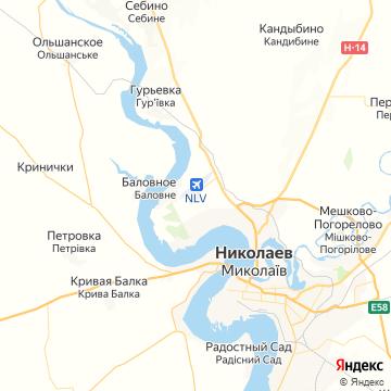 Карта Николаева