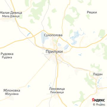 Карта Прилуков