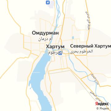 Карта Хартума
