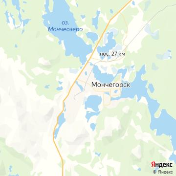 Карта Мончегорска-7
