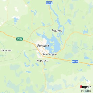 Карта Валдая