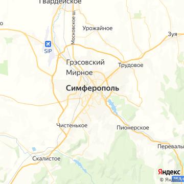 Карта Симферополя