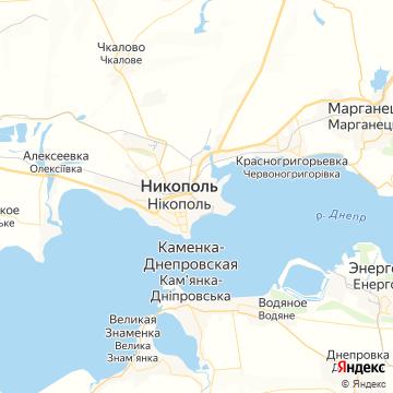 Карта Никополя