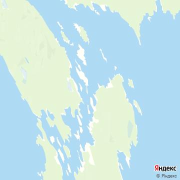 Карта Кижей