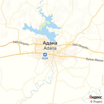 Карта Аданы