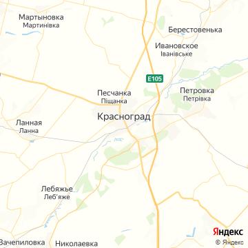 Карта Краснограда