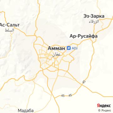 Карта Аммана