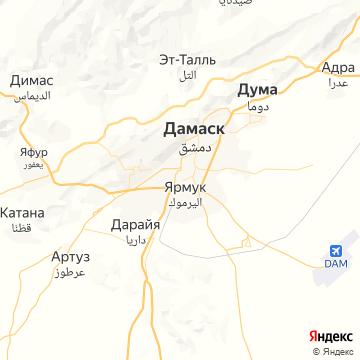Карта Дамаска