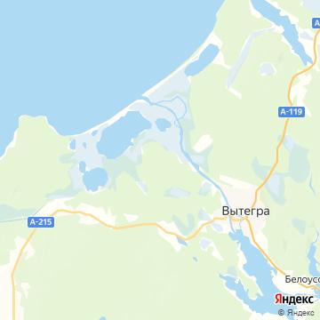 Карта Вытегры