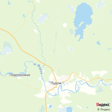 Карта Пудожа