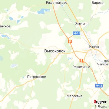 Карта Высоковска