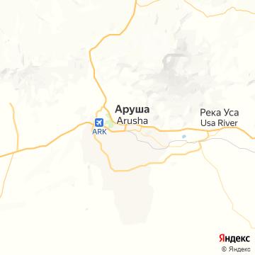 Карта Аруши
