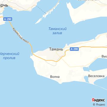Карта Тамань