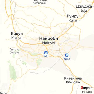 Карта Найроби