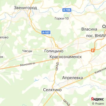 Карта Голицыно