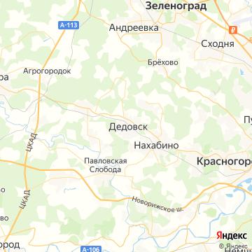 Карта Дедовска