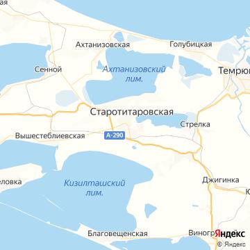 Карта Старотитаровской