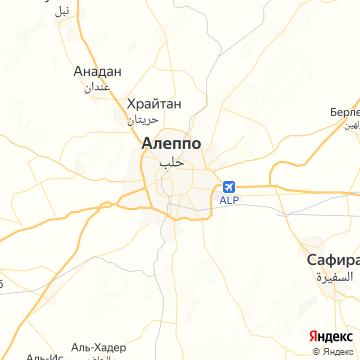 Карта Алеппо