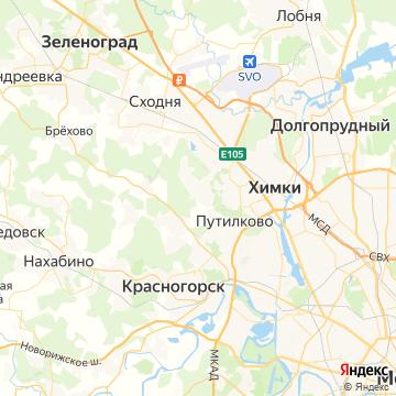Карта Новогорска