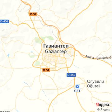 Карта Газиантепа