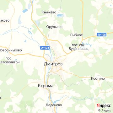 Карта Дмитрова
