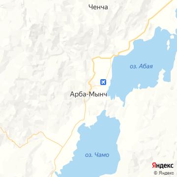 Карта Арбы-Минча