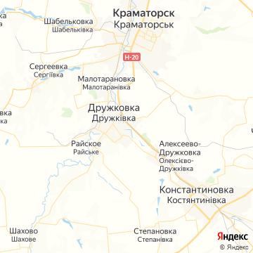 Карта Дружковки