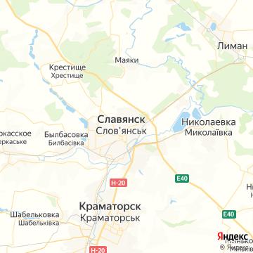 Карта Славянска