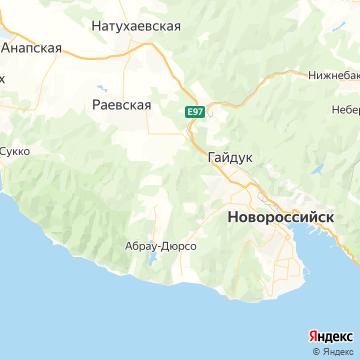 Карта Новороссийск