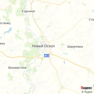 Карта Нового Оскола
