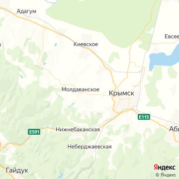 Карта Крымска