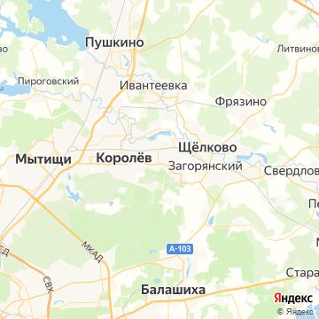 Карта Загорянского