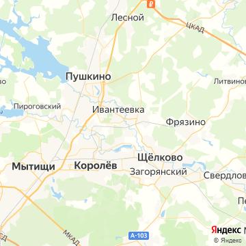 Карта Ивантеевки