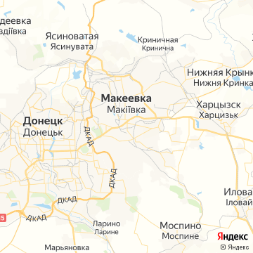 Карта Макеевки