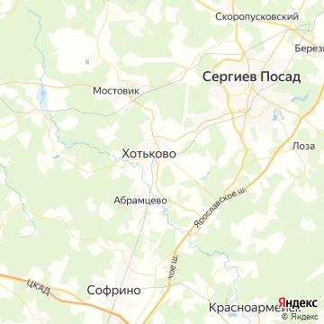 Карта Хотьково