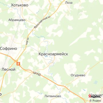 Карта Красноармейска