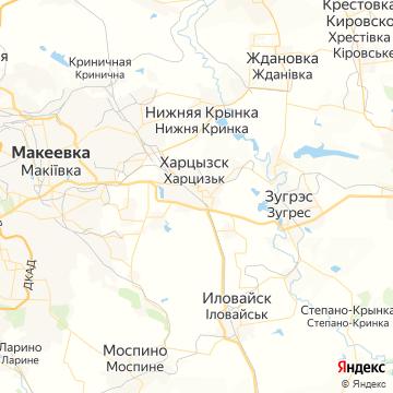 Карта Харцызска