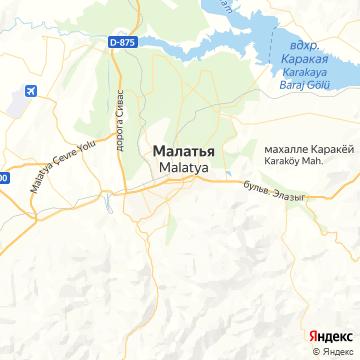 Карта Малатии