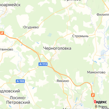 Карта Черноголовки