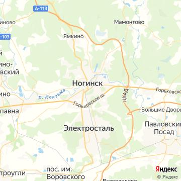 Карта Ногинска