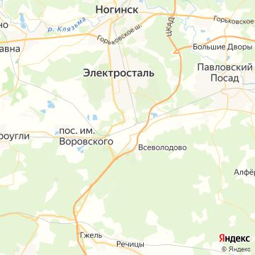 Карта Фрязево