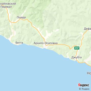 Карта Архипо-Осиповки