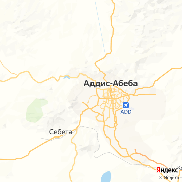 Карта Аддиса-Абебы