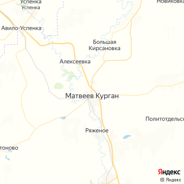 Карта Матвеева Кургана