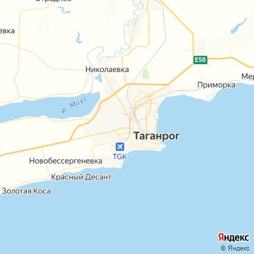 Карта Таганрога