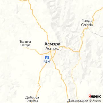 Карта Асмэры