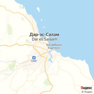 Карта Дара-эс-Салама